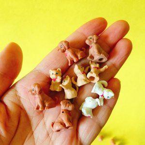 5 Dog Puppy Cat Mini Fairy Garden Terrarium